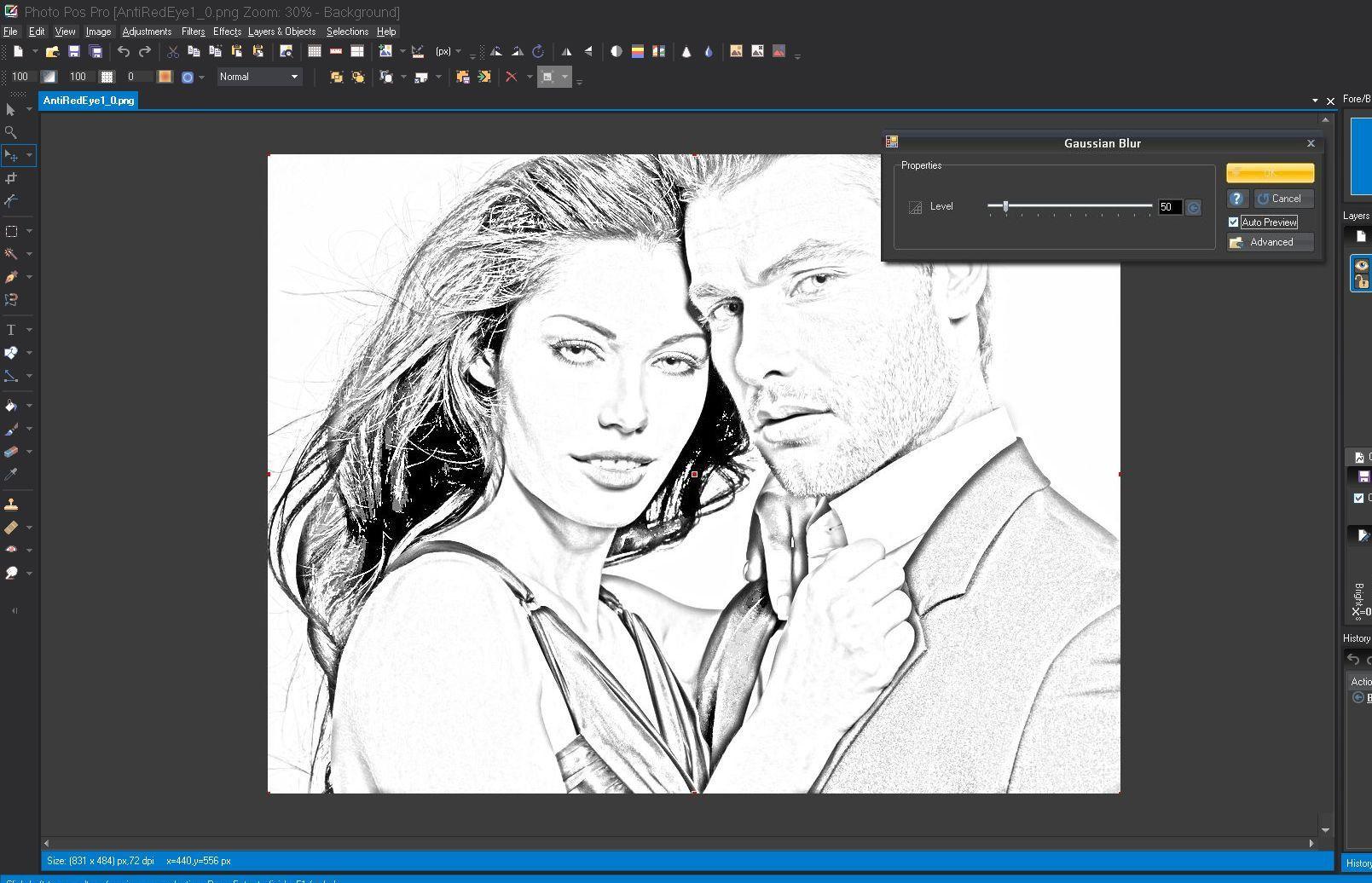 Pencil sketch effect