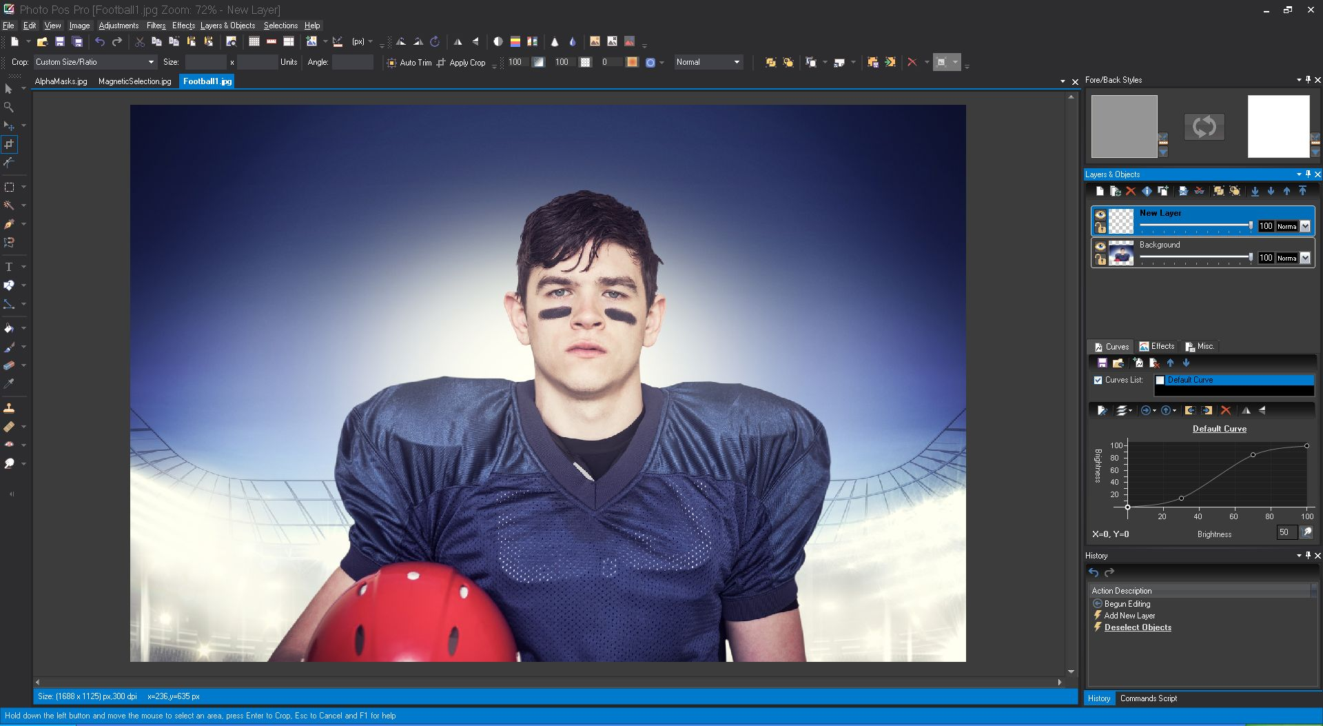 Photo Pos Pro photo editor 3.05 screenshot